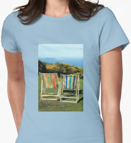Deck Chairs Womens Fitted T-Shirt