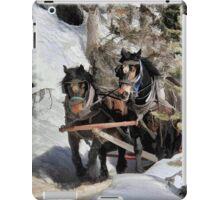 Horse Drawn Wintery Sleigh Ride iPad Case/Skin