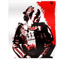 Samurai in Red Poster