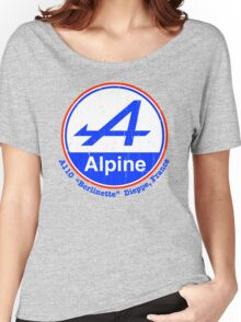 Alpine French Color Graphic Women's Relaxed Fit T-Shirt
