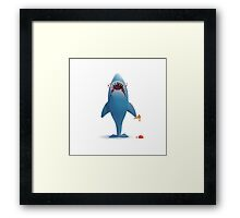 Ice Cream in your Jaws Framed Print