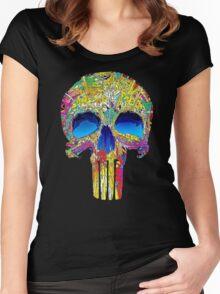 Punisher skull Women's Fitted Scoop T-Shirt