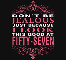 Don't Be Jealous - 57 Women's Fitted V-Neck T-Shirt