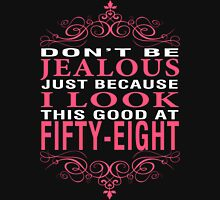 Don't Be Jealous - 58 Women's Fitted V-Neck T-Shirt