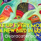 What colour is your birdy? by ART PRINTS ONLINE         by artist SARA  CATENA