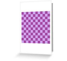 Checkered Purple Greeting Card