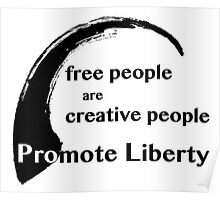 Free People are Creative People Poster