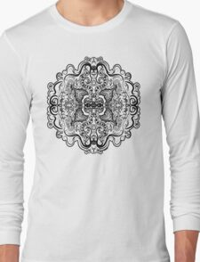Mirrored Mandala Long Sleeve T-Shirt
