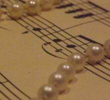 Music and a String of Pearls Sticker