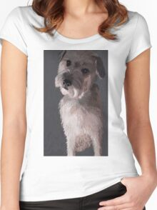 Wheaten Terrier Art Women's Fitted Scoop T-Shirt
