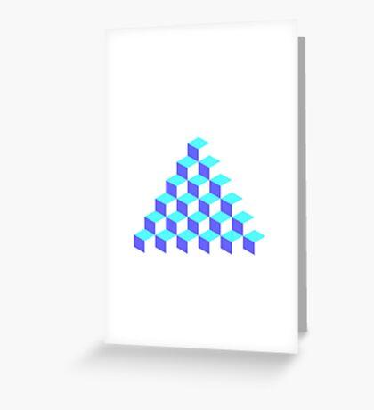 Q*Bert Pyramid Greeting Card