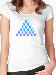 Q*Bert Pyramid Women's Fitted Scoop T-Shirt