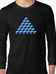 Q*Bert Pyramid Long Sleeve T-Shirt