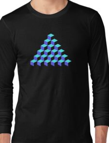 Q*Bert Pyramid Long Sleeve T-Shirt