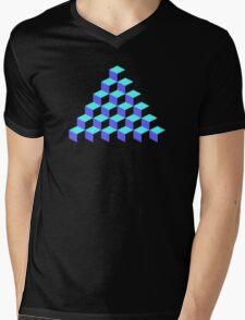 Q*Bert Pyramid Mens V-Neck T-Shirt
