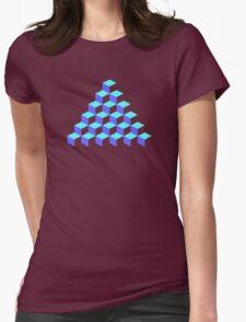 Q*Bert Pyramid Womens Fitted T-Shirt