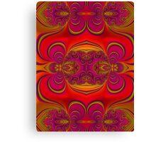 Florescent Red Orange Fractal  Canvas Print