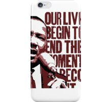 Our Lives Begin To End iPhone Case/Skin