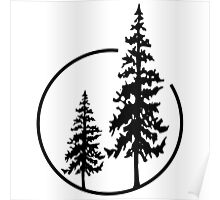 Two Simple Trees in a Circle Poster