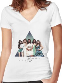 FIFTH HARMONY ~ 7/27 (Triangle) Women's Fitted V-Neck T-Shirt