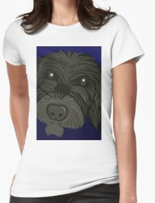 Scruffy Dog Womens Fitted T-Shirt
