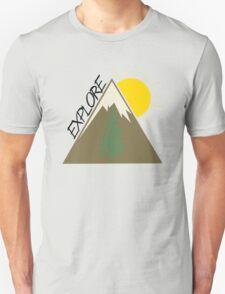 Explore Mountain Tree Sun T-Shirt