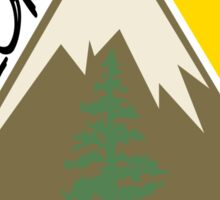 Explore Mountain Tree Sun Sticker