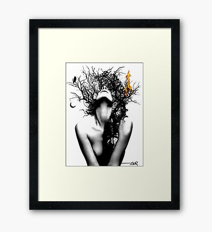 wisdom & fire Framed Print