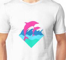 Pink Dolphin Unisex T-Shirt