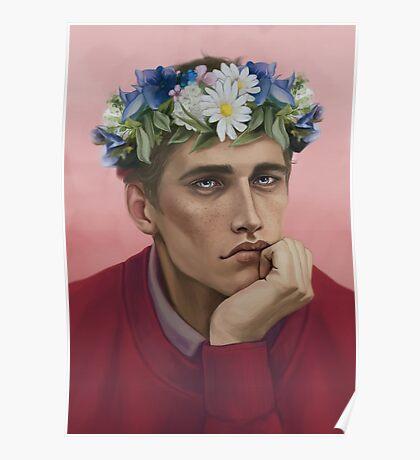 Flower crown Adam Poster