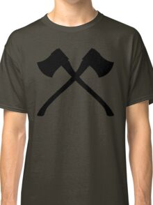 Axe Crossing Simple Classic T-Shirt