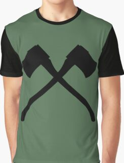 Axe Crossing Simple Graphic T-Shirt