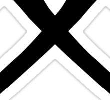 Axe Crossing Simple Sticker