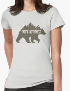 PNW Mountain Bear Womens Fitted T-Shirt