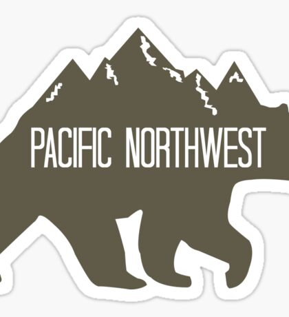 PNW Mountain Bear Sticker