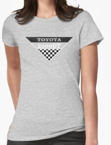 Toyota 2000GT Checker Graphic Womens Fitted T-Shirt