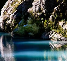 """Blue Pool"" New Zealand by Angelika  Vogel"