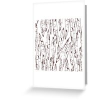 Outlines Watercolor Willow Leaves Greeting Card