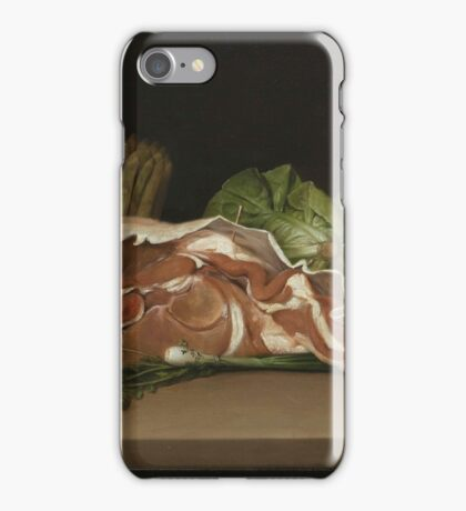Raphaelle Peale, . Cutlet and Vegetables, . Oil on panel iPhone Case/Skin