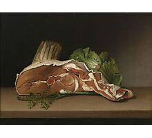 Raphaelle Peale, . Cutlet and Vegetables, . Oil on panel Photographic Print