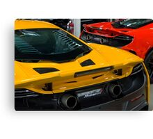 Delta Red/Volcano Yellow McLaren 675LT Canvas Print