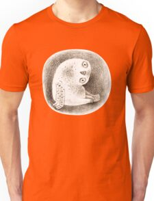 Snowy Owl Sitting In a Hollow Unisex T-Shirt
