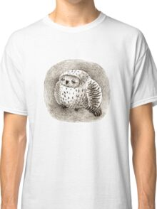 Great Grey Owl Sleeping In a Hollow Classic T-Shirt