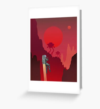 Blood Red Mars Greeting Card