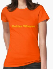 Guitar Whores Logo Womens Fitted T-Shirt