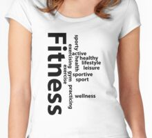 Fitness words Women's Fitted Scoop T-Shirt