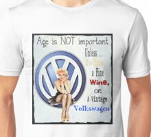 Vintage Cheese wine & Volkswagen Unisex T-Shirt