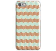 Chevron Tile Pattern Chocolate Mint Decadence iPhone Case/Skin