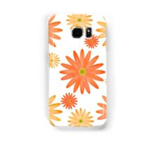 Orange Flowers Pattern Samsung Galaxy Case/Skin