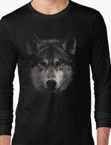 Halftone Wolf Animal Long Sleeve T-Shirt